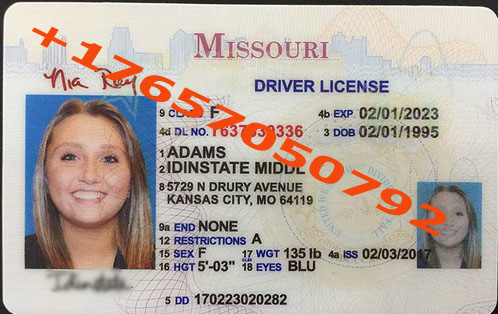MISSOURI ID (Drivers License)